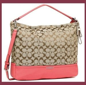 NWT Coach park signature hobo in tearose